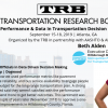 Beth Alden is speaking at the TRB Conference in Atlanta