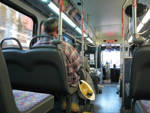 Commute, inside bus, passengers