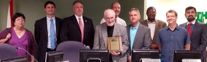 Joe Amon honored by the MPO CAC for ten years of dedicated service as Chair.