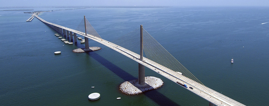 sunshine skyway bridge photo courtesy of City of St Petersburg