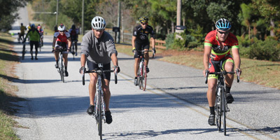 Bicycle trail riders