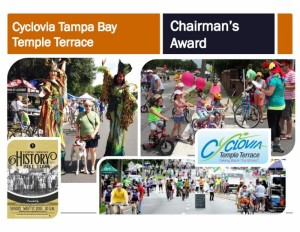 Slide of Cyclovia Tampa Bay