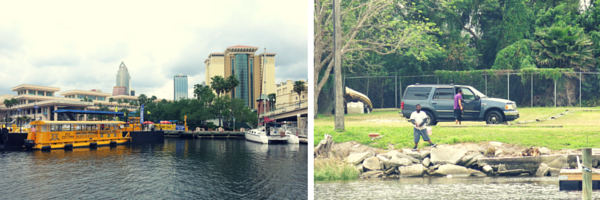 Hillsborough River in Downtown Tampa