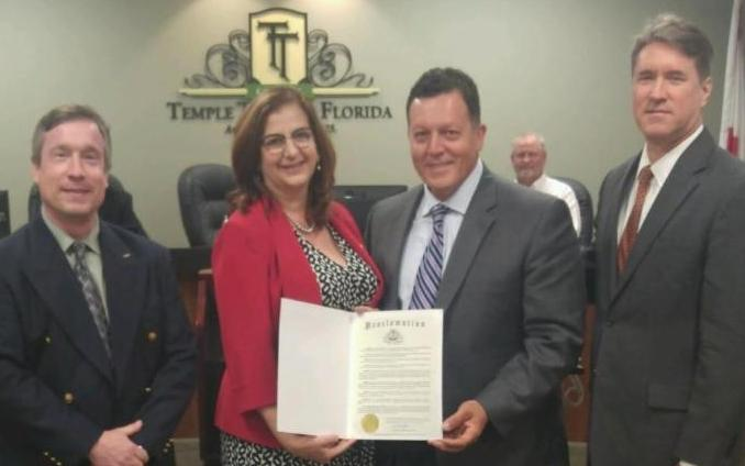 Proclamation from City of Temple Terrace Mayor Frank Chillura