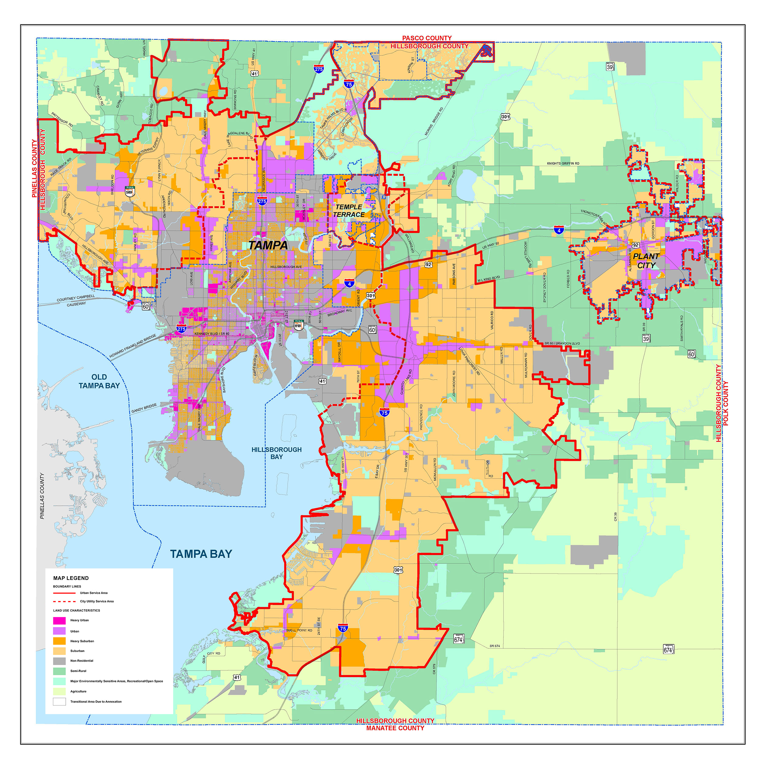 Urban Service Area An Efficient Growth Management Tool Plan - Image of us map at 2040