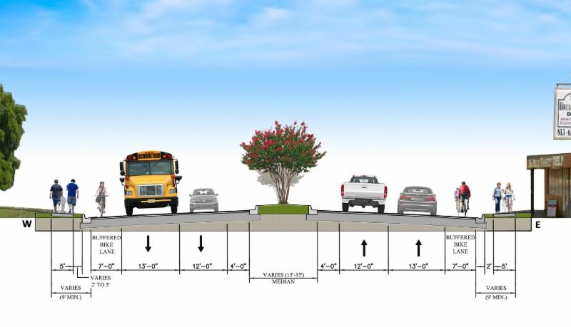 Complete Streets Road Section