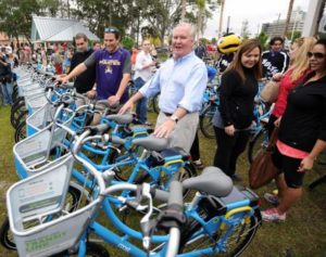 Mayor Buckhorn on Coast Bicycle