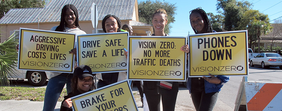 2019 Vision Zero Walk of Silence attendees