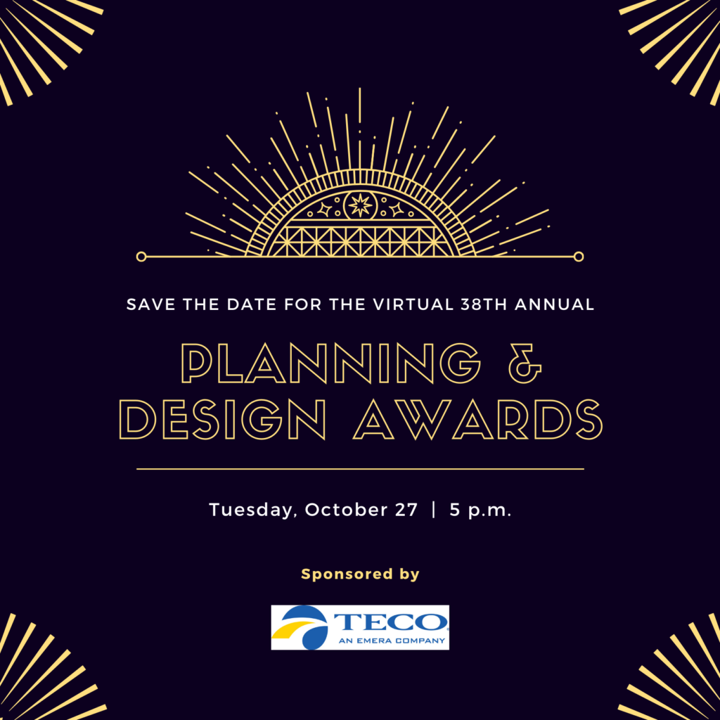 Save the Date 38th Annual Planning & Design Awards
