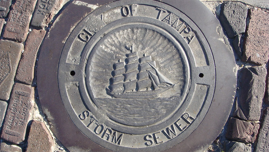 City of Tampa storm sewer cover