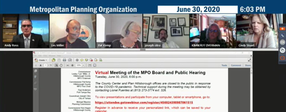 MPO board virtual meeting