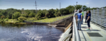 stakeholders assessing Hillsborough River flow