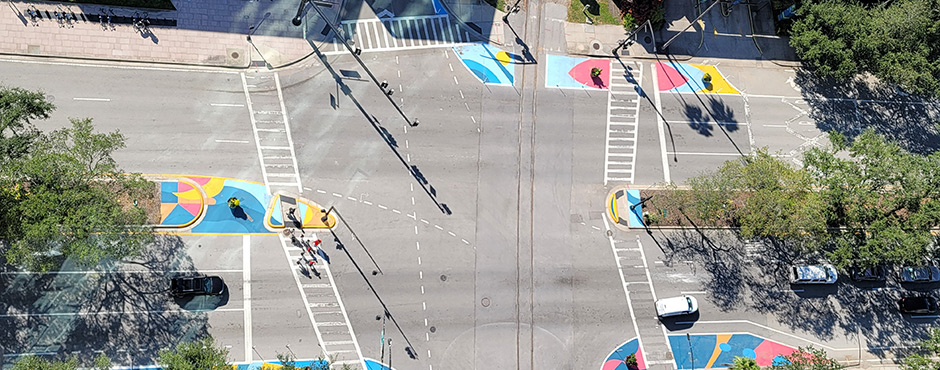 colorful intersection